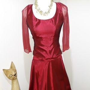 Marroon prom/bridesmaid 2 piece dress